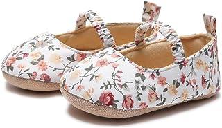 DolceTiger Mocassins Cuir Filles, Chaussures Bateau Imprimé Floral en Cuir à Talons Plats Ballerines Plates Semelle Confor...