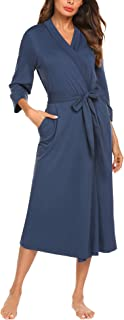Image of A Best Seller: Elegant Stylish Cotton Bathrobe for Women - See More Colors