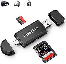 KiWiBiRD USB C SD Kartenleser, Micro SD Karte auf USB Adapter Stick, Typ C Speicherkarten lesegerät für SDXC SDHC UHS-I Ka...