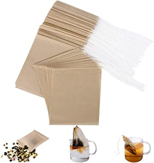 Eco-Fil Disposable Tea Filter Bags for Loose Tea, Wood Pulp Material, Biodegradable and Compostable, Unbleached Empty Tea ...