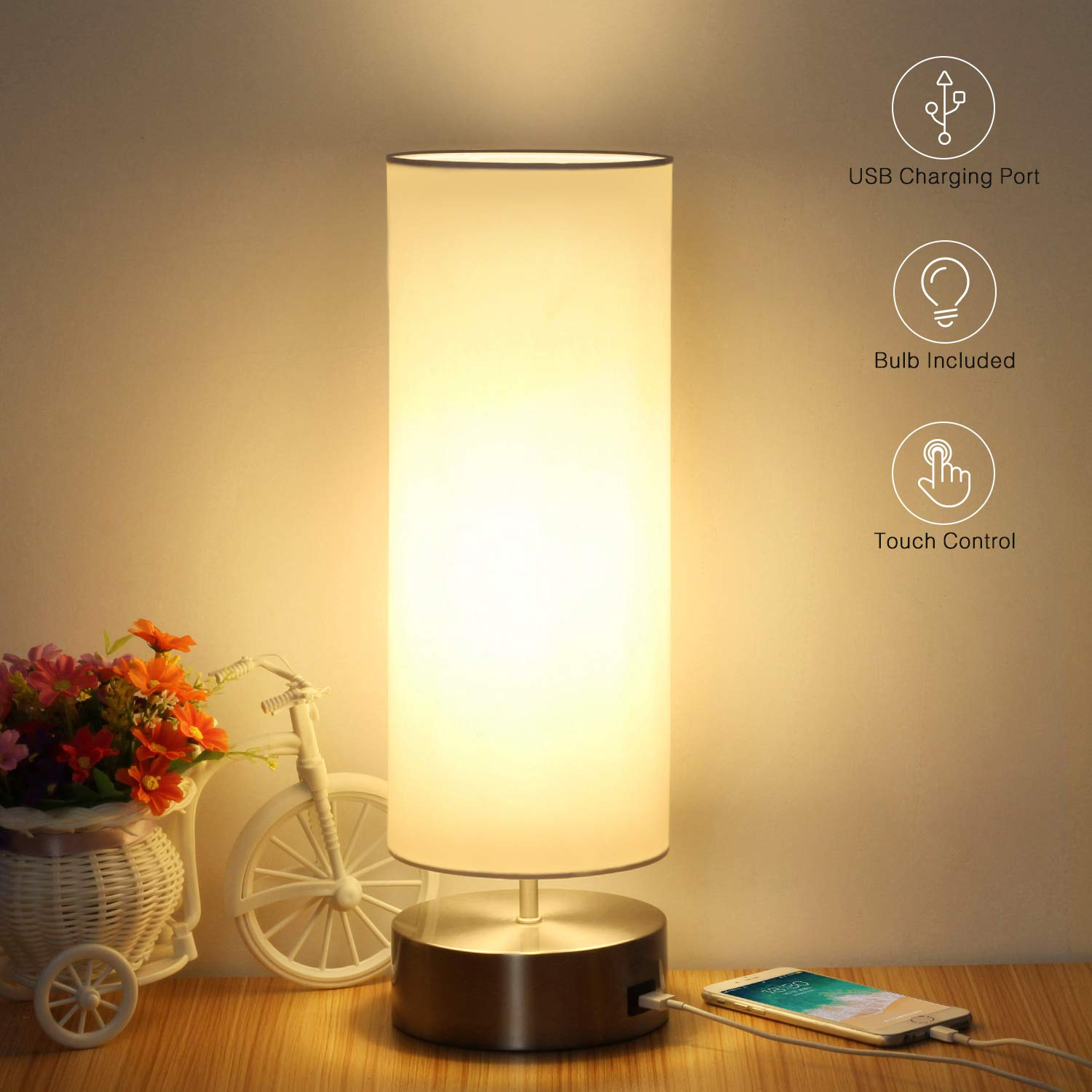 Boncoo Touch Control Table Lamp Vintage Desk Lamp Small Industrial Touch Light Bedside Dimmable Nightstand Lamp Steampunk Accent Light Edison Lamp Base Antique Night Light For Living Room Bedroom Lighting Ceiling