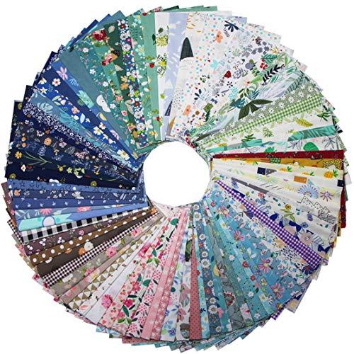 EDGEAM 20 piezas de tela de algodón para coser, 30 x 25 cm, multipatrón, tela de algodón, patchwork, paquete para acolchados, manualidades, scrapbooking (30 x 25 cm, 20 patrones aleatorios)