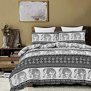 Vaulia Lightweight Duvet Cover Set, Mandala and Bohemia Exotic Patterns Inspired Design - Queen Size