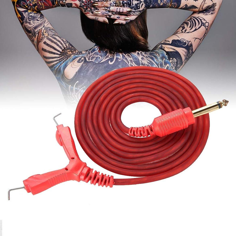 配列周術期昆虫タトゥークリップコード、2mタトゥー電源用シリコンクリップコードタトゥーフックラインタトゥーマシン、タトゥー電源タトゥーワイヤー(Red)