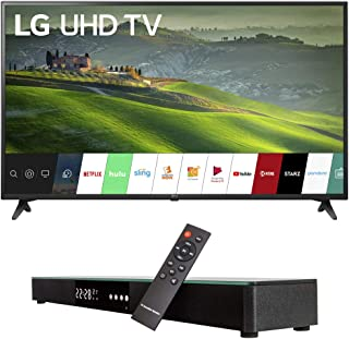 LG 60UM6900 60-inch HDR 4K UHD Smart LED TV (2019) Bundle with Deco Gear Home Theater Surround Sound 31-inch Soundbar and ...