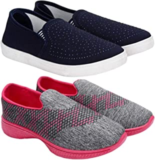 Super Women's Multicolor Combo Pack of 2 Canvas Casual Shoes for Women
