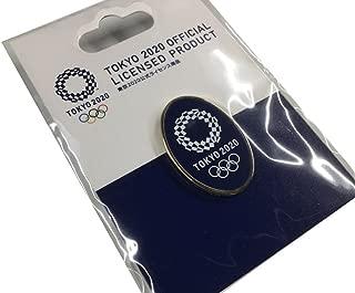 東京 2020 オリンピック 組市松紋 エンブレム 楕円 ピンバッジ ゴールド ネイビー