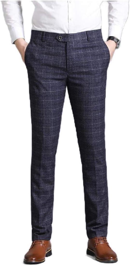 Dressu Pantalon De Vestir Para Hombre Sin Arrugas Y Corte Recto Amazon Com Mx Ropa Zapatos Y Accesorios