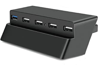 TNP 5 Port USB Hub for PS4 Slim Edition - USB 3.0 / 2.0 High Speed Adapter Accessories Expansion Hub Connector Splitter Expander for PS4S PlayStation 4 Slim Edition Gaming Console [PS4 Slim Edition]