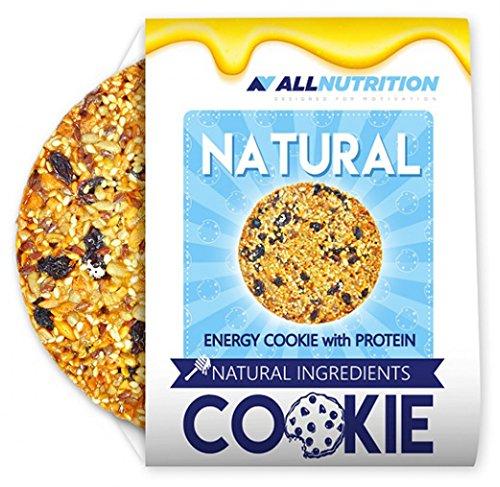 AllNUTRITIE Energy Cookie koekjes met eiwitten en vruchten, glutenvrij dieet, sporter, bodybuilding, 10 x 60 g
