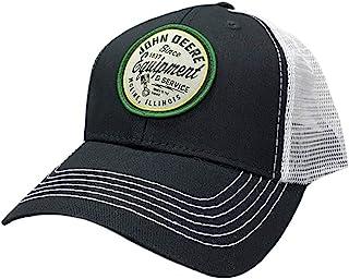 قبعة بيسبول من نسيج قطني مضلع للرجال من John Deere