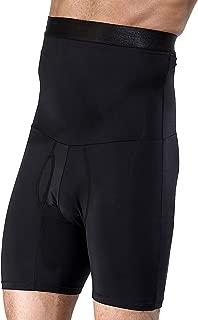 Men's Shapewear High Waist Tummy Abdomen Leg Control Shorts Anti-Curling Slimming Body Shaper Underwear Boxer Brief