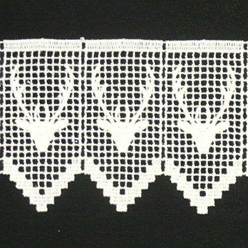 Häkelgardine Borte Spitzenborte Hirsch creme 11cm