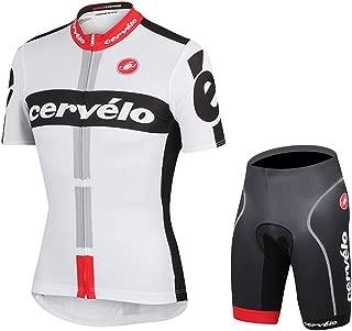 UONO Mens Short Sleeves Team Cycling Jersey Jacket Bicycle Bike Shirt Cycling Padded Shorts Set