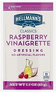 Hellmann's Classics Raspberry Vinaigrette Salad Dressing Portion Control Sachets Gluten Free, No Artificial Flavors or Hig...