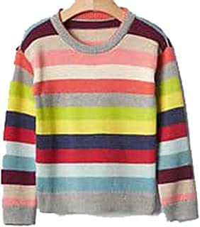 d747791aaacc2 Baby Gap Toddler Girls Crazy Stripe Crew Pullover Sweater 18-24 Months