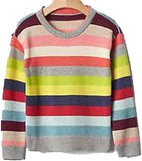 Baby Gap Toddler Girls Crazy Stripe Crew Pullover Sweater 18-24 Months