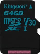 Kingston La 64GB MICROSDXC Canvas Go (SDCG2/64GBSP)