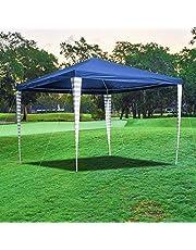 wolketon Cenador resistente al agua y a los rayos UV, carpa para fiestas, con ventilación, sin laterales, color blanco, para jardín, terraza, mercado, camping, festival