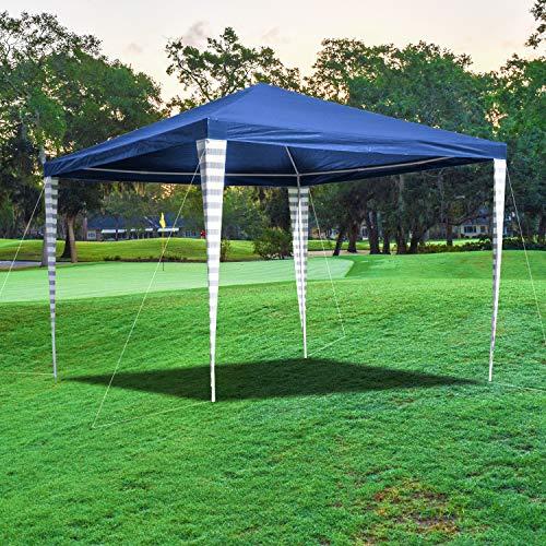wolketon Pavillon 3x3m Wasserdicht Partyzelt Ohne Seitenteile für Party Garten Markt Camping Festival als Unterstand Gartenpavillon Hochwertiges Zelt Blau