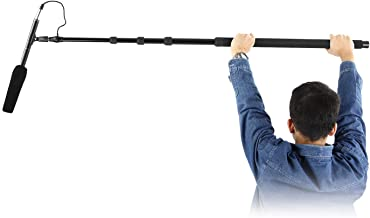 Neewer Portable Handheld Microphone Boom Pole with Built-in XLR Audio Cable, 5 Sections Stretchable 32.6-131 inches, Aluminum Construction with Easy Twist Locks and Padded Handle for Zoom Microphones