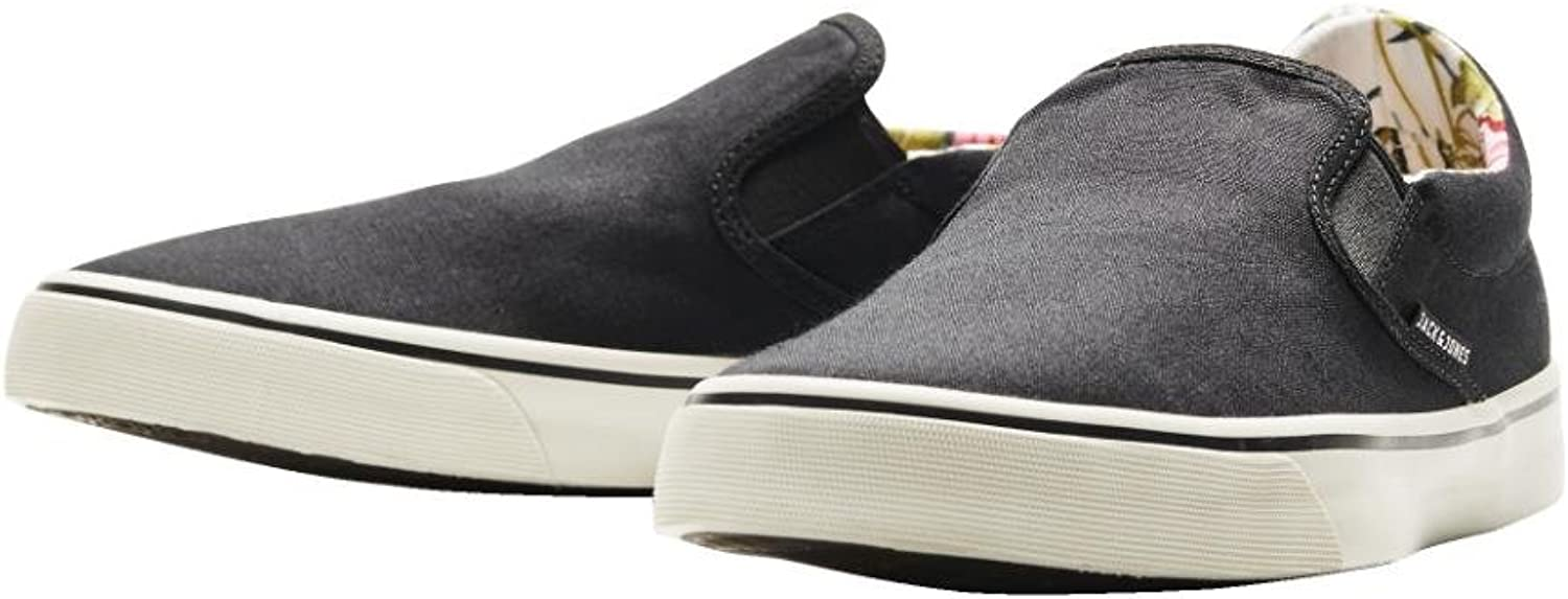 Jack and Jones Surf Mens Canvas Loafer Anthracite shoes