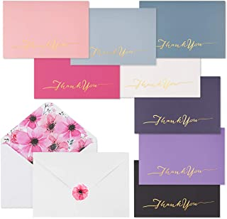 48 Thank You Cards Boxed - iLovepaper Thank You Blank Cards with Envelopes for Baby Showers Note Cards, Wedding Thank You Cards,Bridal Shower Thankyou Card (8 Clolors)