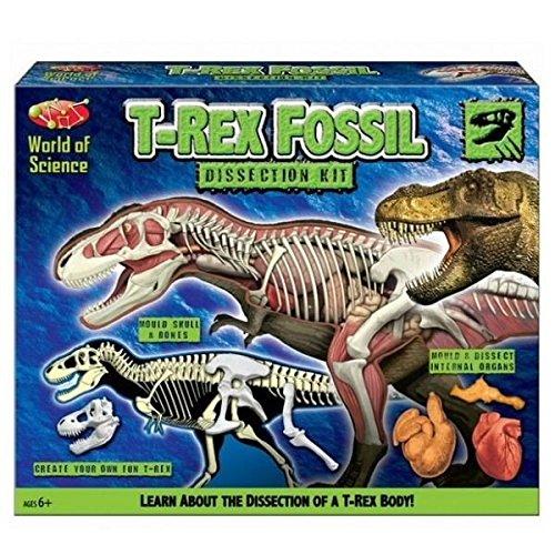 World of Science Kit de disección fósil T-Rex - Cree su propia diversión T-Rex