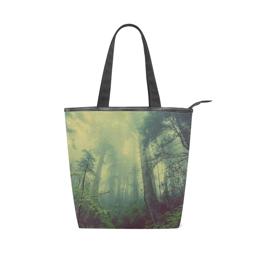 動物園人生を作る眉をひそめるキャンバス バッグ トートバッグ 多機能 多用途2way森林 緑 ショルダー バッグ ハンドバッグ レディース 人気 可愛い 帆布 カジュアル 多機能 両用トートバッグ ァスナー付き ポケット付 Natax