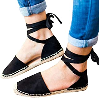 JJLIKER-Women Sandles Jjliker Women Suede Espadrilles Closed Toe Flats Pregnant Ankle Sandals Loafers