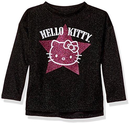 Hello Kitty Mädchen Metallic Knit Sweatshirt Glitter Print -  Schwarz -  2 Jahre