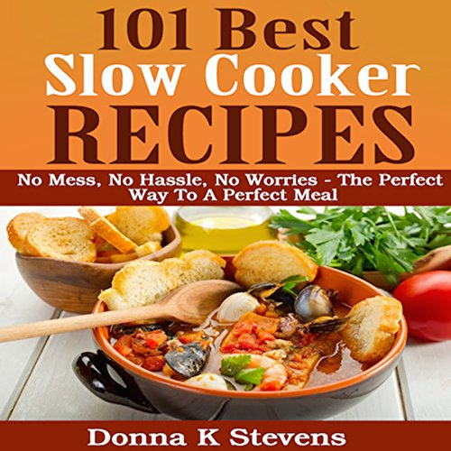 101 Best Slow Cooker Recipes: No Mess, No Hassle, No Worries audiobook cover art