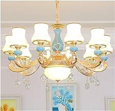 European Style Chandelier Light Luxury Living Room Dining Room Bedroom Hotel Cafe Chandelier (Size : 18light)