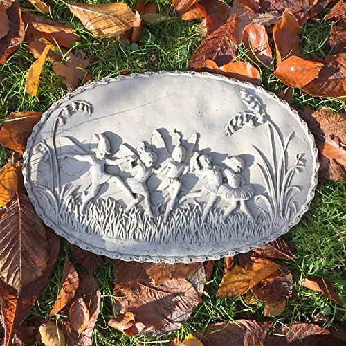 Antikas - Feenwiese - Relief Wand + Brunnen Dekoration Feen und Elfen Gartenfiguren Stein