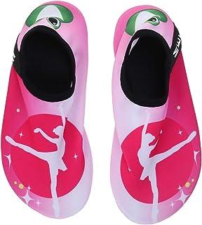 LIOOBO, Zapatos de agua de playa para niños de secado rápido Verano suave antideslizante, natación, surf, buceo, calcetines, zapatillas de deporte para niños (Ballet Girl 38/39)