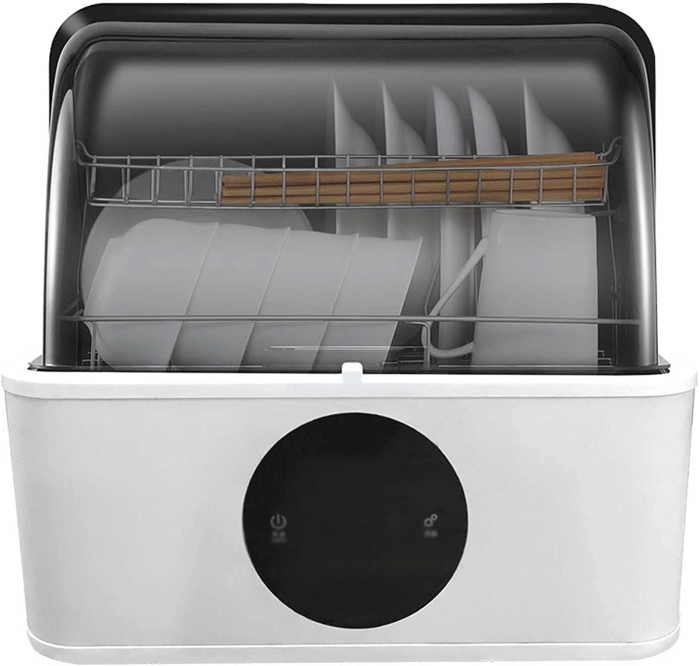MOSHUO Mini lavavajillas de encimera, lavavajillas portátil de Tipo Compacto, con 6 programas de Lavado, Adecuado para su Uso por 2 a 6 Personas (43 x 42 x 40,9 cm)