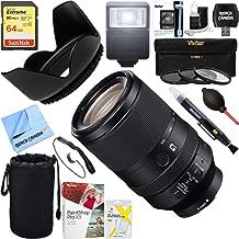 Sony FE 70-300mm F4.5-5.6 G OSS Full-Frame E-Mount Lens (SEL70300G) + 64GB Ultimate Filter & Flash Photography Bundle