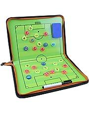 サッカー 作戦ボード コーチボード タクティックボード 折り畳み式 ファスナータイプ 作戦盤 指導 打合せ コンパクト DEWEL