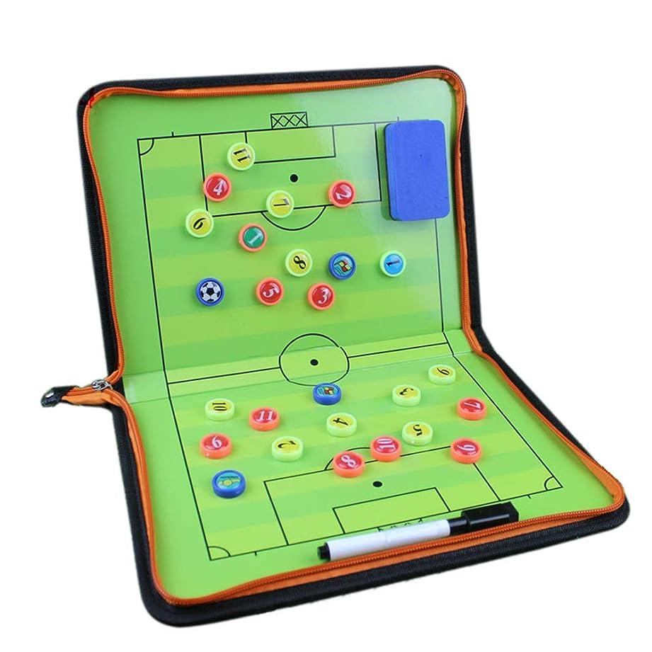 リル残る通路サッカー 作戦ボード コーチボード タクティックボード 折り畳み式 ファスナータイプ 作戦盤 指導 打合せ コンパクト DEWEL