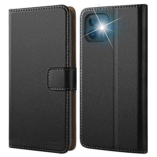 HOOMIL Cover per iPhone 11, Flip Caso Premium Portafoglio Custodia per iPhone 11 - Nero