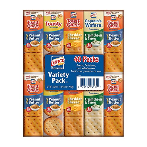 Lance Variety Pack,40 count, (56.8 oz total weight)