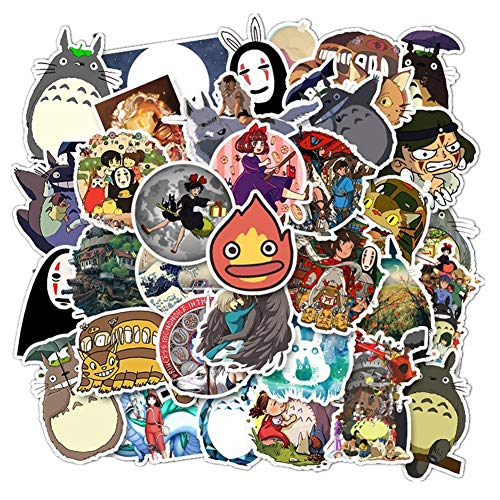Hayao Miyazaki Stickers DIY Japanese Cartoon Anime Decals 100 Pcs Packs Studio Ghibli Stickers Theme Stickers Decal Personalized Decor for Laptops, Phone, Notebook, Luggage Case (Hayao Miyazaki)