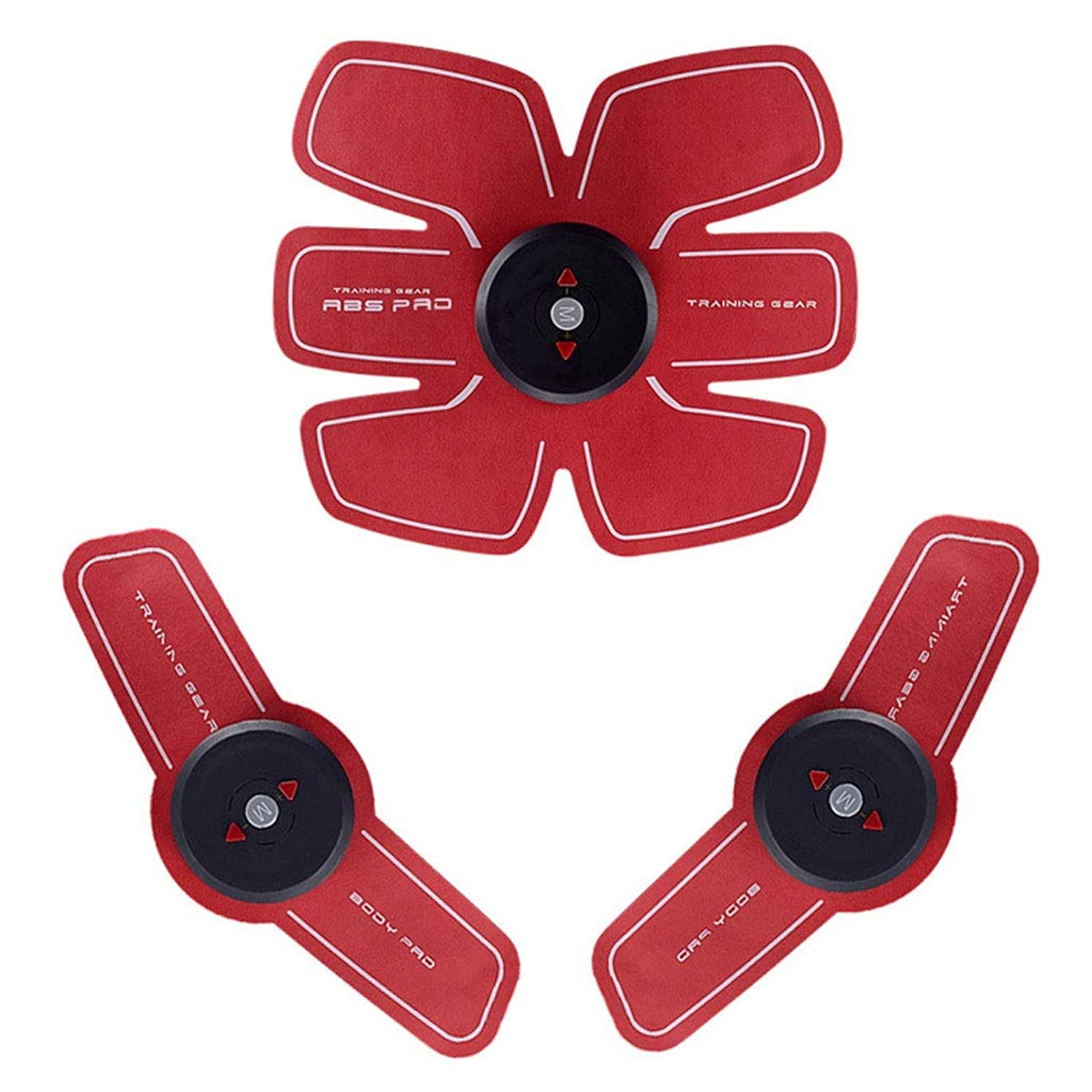 木製オデュッセウス微妙EMS ABSトレーナー、腹部調色ベルト、Abベルト/Abトナー、EMSマッスルスティミュレーター、マッスルトナーフィットネストレーニングギア(男性用)女性腹部アームレッグトレーナー (Size : D)