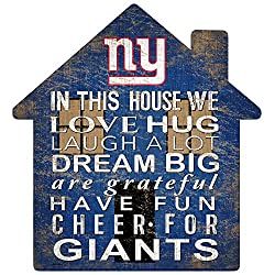 Fan Creations NFL New York Giants Unisex New York Giants House Sign, Team Color, 12 inch