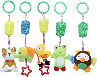 Wind Chime Elephant Animal Rattle Doll Cartoon Bed Bell Cartoon Toy Baby Stroller Pendant Hanging Bell for Kids Baby