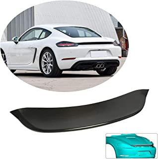 MCARCAR KIT Trunk Spoiler fits Porsche 718 Boxster Convertible Cayman 2Door Hatchback Coupe 2016-2019 Factory Outlet Carbon Fiber CF Rear Boot Lid Highkick Spoiler Wing Lip(Not for GT4)