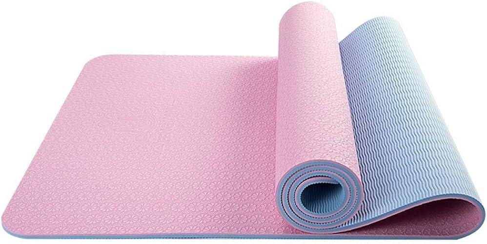 WYJW Tapis de Yoga Tapis de Yoga Tapis de Yoga épaississement Anti-dérapant Femme Yoga Dance Débutant Homme Tapis de Sport Mat Mat Home (Couleur  B, Taille  8mm)