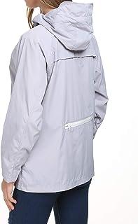 Raincoat Women Lightweight Waterproof Packable Outdoor Travel Rain Anorak Jacket