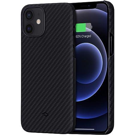 「PITAKA」MagEZ Case iPhone 12 対応 ケース アラミド繊維製 カーボン風 デザイン 極薄(0.85mm) 軽量(15g) 耐衝撃 保護 カバー ワイヤレス充電対応 ミニマリスト シンプル 6.1インチ(黒/グレー ツイル柄)
