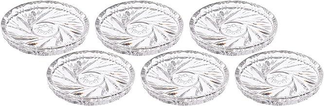 Bohemia Crystal Coaster Set, 9 Pieces - Clear